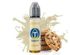 Boccetta contenente liquido svapo al gusto cremoso di cookies per sigaretta elettronica