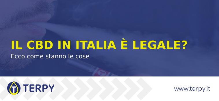 riassunto sulla legislazione in italia sul CBD