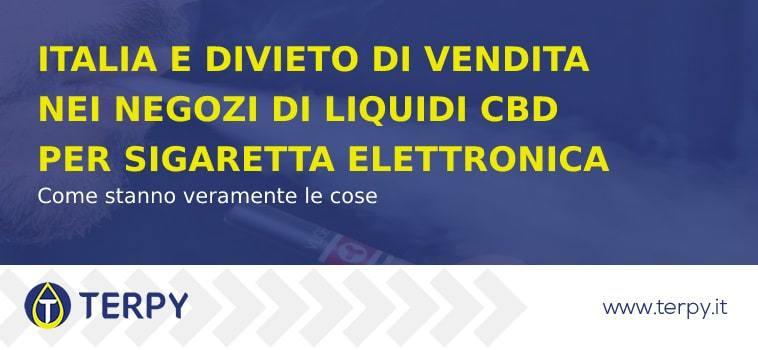 Italia e divieto di vendita nei negozi di liquidi al CBD
