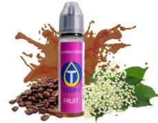 Boccetta di liquido fruttato per sigaretta elettronica gusto cafffè e anice