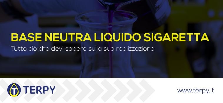 base neutra liquido sigaretta elettronica