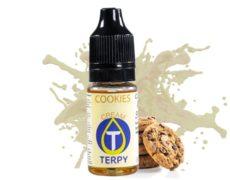 Boccetta contenente aroma per svapo al gusto cremoso di cookies per sigaretta elettronica
