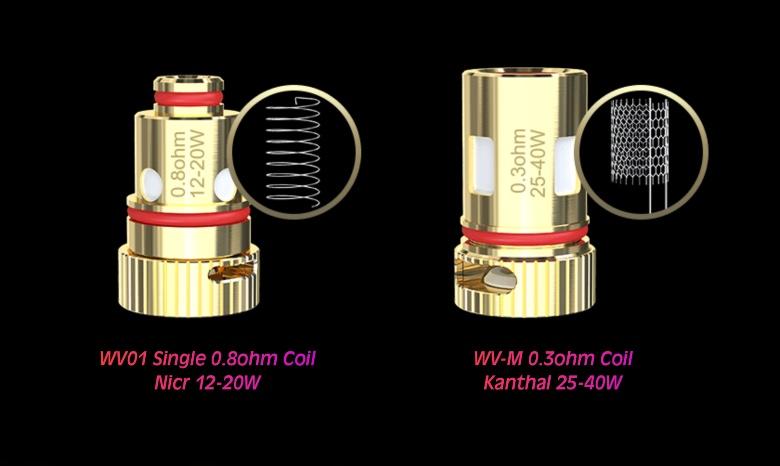 coil 0.8 ohm e 0.3 ohm per Wismec R40