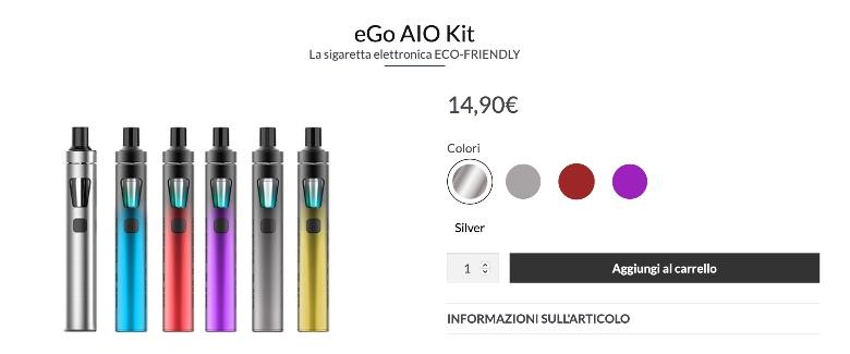colorazioni della sigaretta elettronica Joyetech ego aio