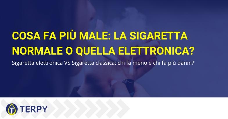 cosa fa piu male la sigaretta normale o quella elettronica