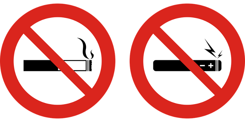 cartello da affiggere dove è vietato svapare