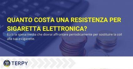 costo di una resistenza per sigaretta elettronica
